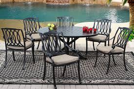 san marcos cast aluminum patio 7pc set