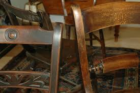 there are 4 oxford windsor chairs made in the 1840s in the high wycombe area of buckinghamshire and they bear the maker s mark which is so touching