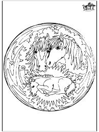 Mandala Paarden 2 Dierenmandalas