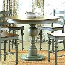 counter height pedestal dining table room with leaf round t