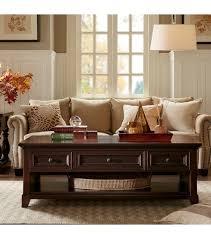 dark mahogany rectangle coffee table