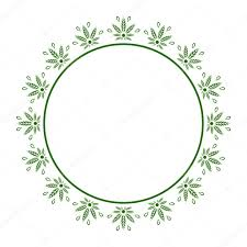 round green frame of stylized cans