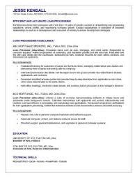 mortgage processor resume   best resume examplemortgage loan officer resume sample  loan processor resume sample