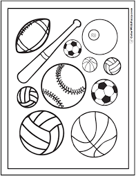 121 Sports Coloring Sheets Customize And Print Pdf Blackwhite