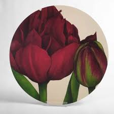 round melamine table mat burdy uncle tom tulip