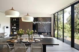 large contemporary pendant light fixtures modern lights for kitchen island wood aluminum lamp black white restaurant