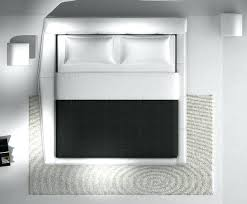 single bed top view. Bedroom Top View White Modern Leather Bed Single V