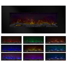 northwest 50 color changing led electric fireplace with remote black free today com 20944706