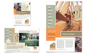 Ad Page Templates Home Building Carpentry Flyer Ad Template Word Publisher
