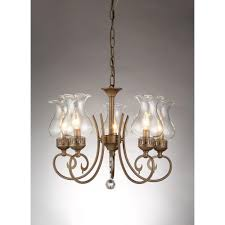 bailona 5 light antique bronze indoor glass shade crystal chandelier with shade