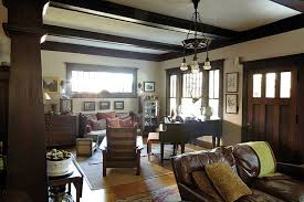 Craftsman home furniture Arts Crafts Style House The new Living Room Furniture bought Within The Last 20 Years Is Traditional In Style So It Complements The Antiques In The Room Nicely Ballard Designs Tour Of Craftsman Home In Atlanta Ga