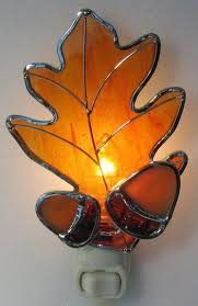 Oak Leaf Nightlight Studio One Art Glass