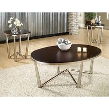 Attractive Steve Silver Company Cosmo 3 Piece Modern Cocktail And End Table Set In  Dark Cherry Ideas