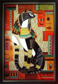 Egyptian Glass Painting Designs