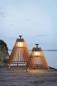 outdoor floor lamps to use in a deck or patio teak floor lamp tipi by skargaarden