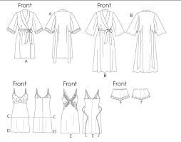 Robe Sewing Pattern Classy Vogue Patterns 48 Misses' Robe Slip Camisole And Panties