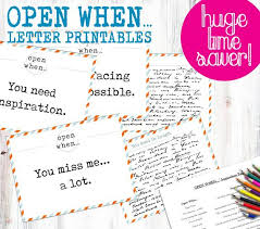Open When Letters Printable World Of Example
