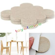 18pcs self adhesive floor furniture wall chair scratch protector felt round pads