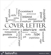 Cover Letter Words Illustration