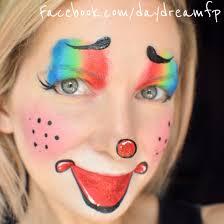 Girl Clown Face Designs Easy Cute Female Clown Face Painting Clown Femaleclown