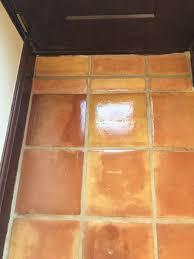 Terracotta Kitchen Floor Cracked Mexican Terracotta Kitchen Tiles Restored In Ormskirk