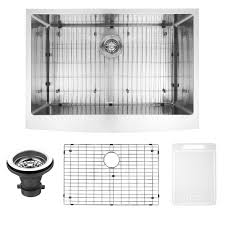 sink grids for farmhouse sinks. VIGO Farmhouse Apron Front Stainless Steel 30 In Single Bowl Kitchen Sink With Grid And Intended Grids For Sinks