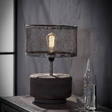 Landelijke Tafellamp De Houten Tafellamp Rohan Bol Verweerd Koper