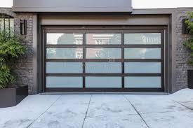 building glass door. 2 car garage door with frosted glass stock photo image of outdoors regarding design 7 building
