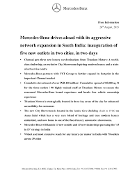 new car launch press releaseMercedes Chennai Dealer Launched  Press Release