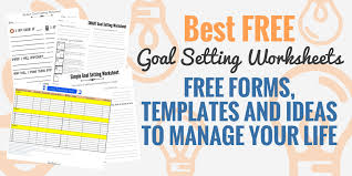 Goal Chart Examples 4 Free Smart Goal Setting Worksheets And Templates