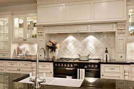 Best French Country Kitchen with Ceramic Backsplash Tiles