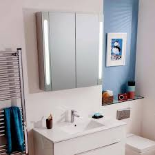 Aluminium Bathroom Cabinets Bauhaus Mirrored Aluminium Wall Hung Cabinet Uk Bathrooms
