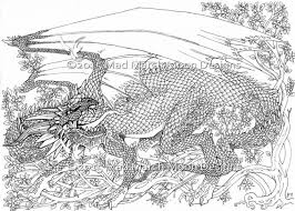 Dragon Coloring Pages For Adults Printable Places To Visit In 10