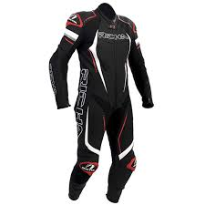 richa francorchamps one piece leather suit black white red thumb 0