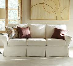 pb basic slipcovered sofa pottery barn
