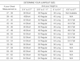 46 Regular Size Chart Mens Jumpsuit Size Chart Intraday Trading Jumpsuit Stock