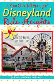 Disneyland Ride Height Requirements Family Vacationing