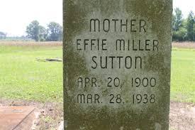 Effie Miller Sutton (1900-1938) - Find A Grave Memorial