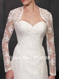Bolero Jacket Pattern Interesting 48 New Fashion Lace Pattern With Appliques Long Sleeve Bridal