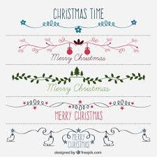 Hand Drawn Beautiful Decorative Christmas Borders Free Vector Free