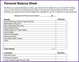 Simple Personal Balance Sheet Example Personal Finance Balance Sheet Template