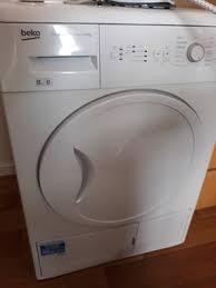 condenser tumble dryer standing white 8kg dcu8230 beko uk 415x380