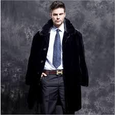 clobee luxury long mens winter coats 2017 imitation mink fur overcoat turn dwon collar faux