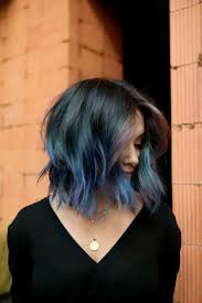 Subtle Blue Highlights 2019 Hair Color Trends That Will Be Huge This Winter