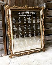 Etsy Mirror Seating Chart Mirror Seating Chart