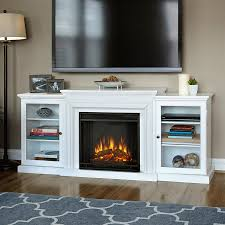 real flame 72 in w 4 780 btu white wood wall mount led electric fireplace