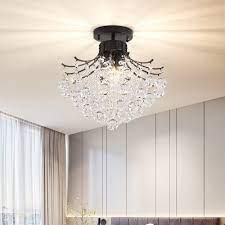 black crystal ball shaded ceiling
