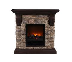 com ok lighting portable fireplace with faux stone dark large home kitchen
