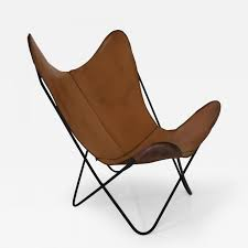 Listings / Furniture / Seating / Lounge Chairs  Knoll Hardoy Leather  Butterfly Chair