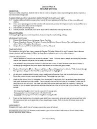 Resume Writing Lesson Plan Resume Lesson Plan